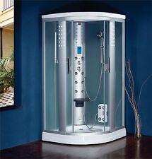 Cabina bagno box doccia idromassaggio con sauna radio e luci 90x90
