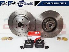 FOR RENAULT CLIO SPORT RS 2.0 16V 197 200 REAR DRILLED BRAKE DISCS BREMBO PADS