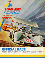 VINTAGE 1969 CAN AM AUTO RACING POSTER PRINT 36x28