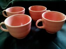 Fiesta Ware Cups Dusty Rose Retired Homer Laughlin Set of 4 Vintage