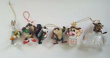 Looney Tunes Christmas Ornament Lot - Taz Tasmanian Devil Bugs Bunny Pepe