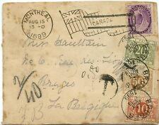 RARE 2 cent Numeral POSTAGE DUE >> Belgium 1899 FRONT only Canada