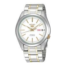 SEIKO SNKL47 SNKL47K1 Mens Automatic See Through White Dial 2 Tone Steel Watch