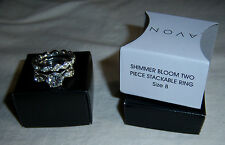 "Avon Shimmer Bloom Two Piece Stackable Ring Size 8  ""New with Box"""