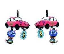 Boucles d'oreilles LOL Bijoux LOLILOTA Coccinelle VW et le chat BFLOL073-fushia