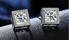 Womens Cubic Princess Cut Earrings made with Crystals from Swarovski xmas gifts