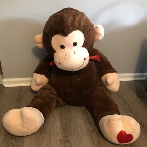 Giant Large Jumbo Brown Monkey Big Huge Stuffed Animal  Soft Plush Toy