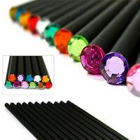 12 Pcs Pencil HB Diamond Color Pencil Stationery Cute Pencils Drawing Supp RU