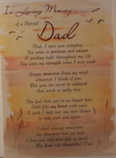 Memorial grave Carte In Loving Memory of a cher Loved One 16.5 cm étanche x12cm