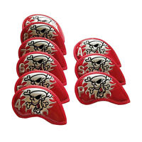 9pcs Red Golf Iron Cub Head covers Skull Iron Cover For Titleist Taylormade Ping