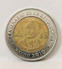 Monedas Mexico 2009 ,$10,$5,$2,$1,20c y 10c ,$5 pesos Otilio Montaño