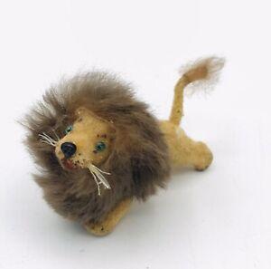 Vintage Wagner Kunstlerschutz Flocked Lion Animal Figure Germany Unmarked