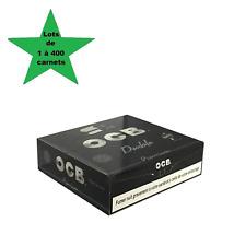 OCB noir courte double premium lots de 1 à 400 carnets de feuilles