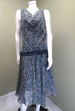 Plaza South Women's Blue/Green Multi-Colored Dress~Size 14