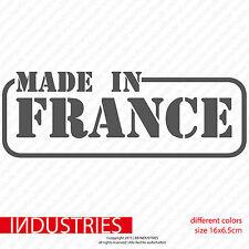 Made in France 16x6 Aufkleber Sticker Car | Peugeot | Renault Racing