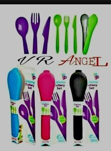 Sistema Cutlery Set To Go, Blue Travel Packed Lunch On The Go School Handy