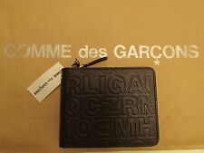 NWT  Authentic   Comme des Garçons Embossed Zip Letter Wallet  /  Brown Leather
