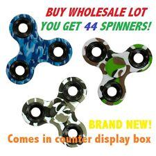 Wholesale Camo Fidget Spinners Camouflage Assorted Bulk Sale 44 Units Case Lot