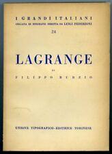 Lagrange. Filippo Burzio