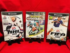 Nintendo Gamecube Sports Lot (FIFA Soccer 2002, NHL 2005, Backyard Football) CIB