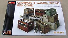 CHAMPAGNE & COGNAC BOTTLES w/CRATES   1/35 MiniArt  # 35575