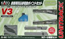 KATO N scale V3 Garage Inlet Wire Electric Point Set 20-862 Train Model Rail New