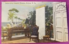Vintage Postcard, Campbell Mansion Bethany Dining Room, West Virginia,  1940s