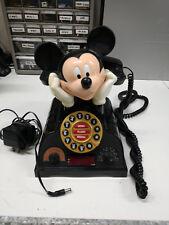 Vintage Mickey Mouse Talking Alarm Clock Radio Telephone