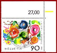 Schweiz 1988, Tinguely, Ausgabetag-Vollstempel, SBK 769, Mi 1380
