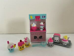 Shopkins Food Fair Cool & Creamy Playset- 100% complete w/ 8 Exclusives