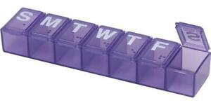 Ezy Dose Travel (7-Day) Pill Medicine Vitamin Organizer Box Weekly Daily Planner