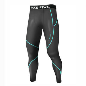 Take Five Mens Skin Tight Compression Base Layer Running Pants Leggings NT506