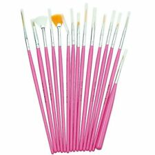 Lot de 15 Pinceaux de Manucure Rose pour Nail Art et Manucure Maison
