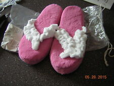 NIB New Large (9 10) Pink Soft and Plush Memory Foam Slippers