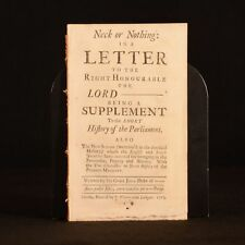 1713 John Dunton Neck or Nothing In a Letter to the Right Honourable Lord Disbou
