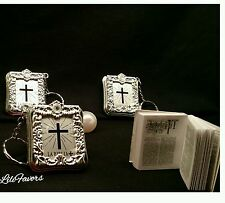 24 Baptism Mini Bibles Favors Keychain Party Communion Recuerdos De Bautizo