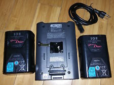 Sony BC-M50 Charger and Two IDX Endura DUO-95 V-Mount Pro Video Battery w/ D-Tap