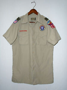 BOY SCOUTS Of America Uniform Shirt BSA #257 VENTED Scout Adult Mens SMALL Sm