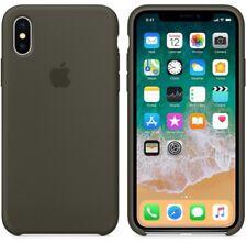 GENUINE ORIGINAL DARK OLIVE APPLE Silicone Case For iPhone X