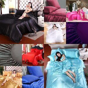 FREE SHIPPING 600 TC UK Size Super Soft Satin Silk Scala Hotel Duvet/Pillow