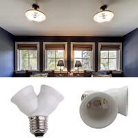 E27 LED Base Light Lamp Bulb Socket 1 to 2 Splitter Adapter