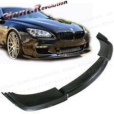 Carbon Fiber Front Lower Add Lip HM Style Fit 2012-16 BMW F06 F12 M-Tech Bumper