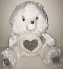 CARE BEARS 25th ANNIVERSARY White Stuffed Plush TENDERHEART BEAR Swarovski Eyes