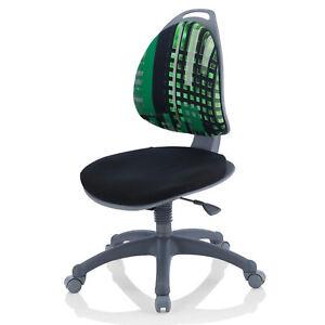 Kettler Jugend-Drehstuhl Berri Kinder-Schreibtischstuhl verstellbar Schwarz-Grün