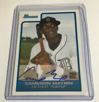 Cameron Maybin 2006 Bowman B113 Autographed Baseball Card /120
