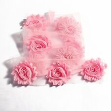 2 1/2 inch wide Fashion Chic Shabby Chiffon Flowers pink color price per yard