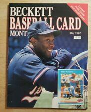 BECKETT BASEBALL CARD MONTHLY May 1987 #27 Kirby Puckett NO LABEL