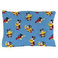 "CafePress Mighty Mouse Pattern Standard Size Pillow Case, 20""x30"" (1002952111)"
