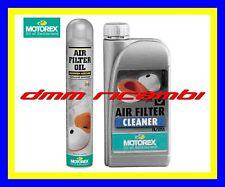 Kit Pulizia MOTOREX per filtro aria in spugna Detergente + Olio Spray CROSS ATV