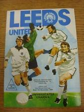 07/11/1979 Leeds United v Universitatea Craiova [UEFA Cup] . Item in very good c